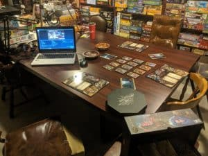 My stream set up for Sorcerer the card game. We stream on Twitch every Friday at 8:30pm eastern.