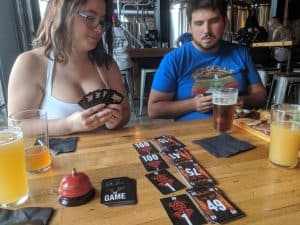 Playing the game, The Game at the Sandwich Brewing Company.