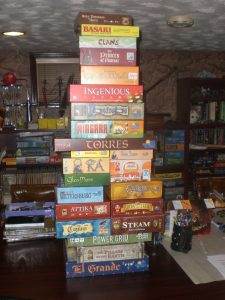 The board game tower.