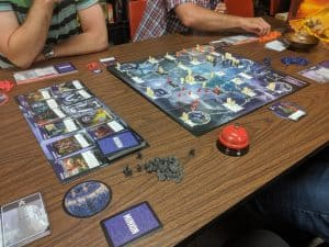 Tyrants of the Underdark being played with four players.