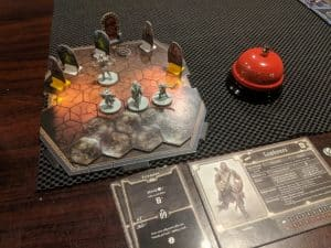 The first room of scenario #26 of the board game Gloomhaven