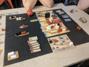 Trying out the B sides of the boards in Imhotep Builder of Egypt.