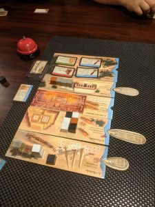 Teaching the game Imhotep to my Monday night game group.