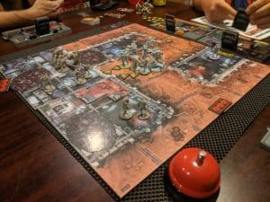 Our team moves outside in Zombicide: Invader.