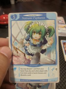 A sample card from the game Tanto Cuore from Japanime games.