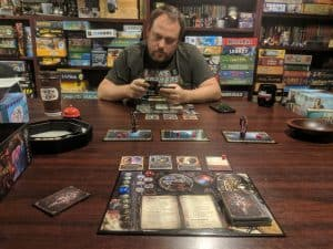 Playing Sorcerer from White Wizard Games two players.