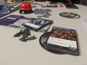 The end of a game of Tyrants of the Underdark, showing off my Inner Circle.