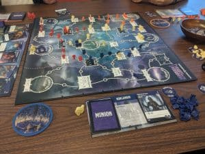 Mid game Tyrants of the Underdark form Gale Force 9, a Dungeons & Dragons board game.