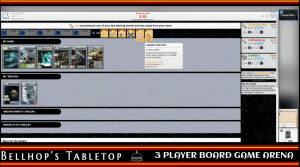 A shot from a live stream of Race for the Galaxy by Rio Grande Games being played on Board Game Arena.