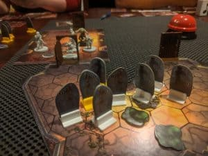 Gloomhaven 6 Room2 - Gloomhaven Scenario #6 Decaying Crypt. Actual play at Scenario Level 4 with four players.