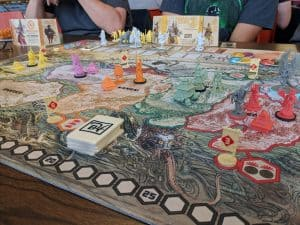 Rising Sun is a beautiful Area Control board game from CMON