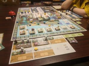A picture of the heavy board game Vinhos Deluxe Edition from Eagle Gryphon Games.