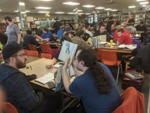 Saturday afternoon crowd shot from Windsor's Extra Life event at The CG Realm