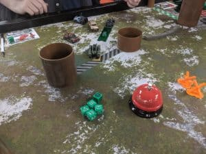 Playing Gaslands at the Windsor Extra Life event.
