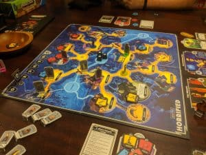A 3 monster game of Horrified the board game featuring Universal Monsters.