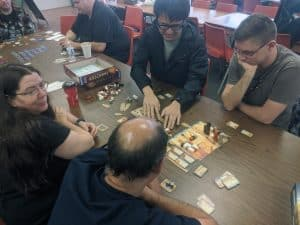 Imhotep being featured at an Extra Life board game tournament.