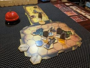 Room 2 of the Berserker Solo Scenario In Gloomhaven.