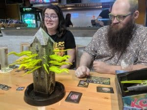 Kat being silly when playing Tower of Madness