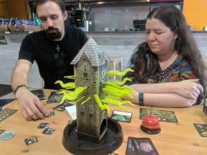 The middle of a game of Tower of Madness