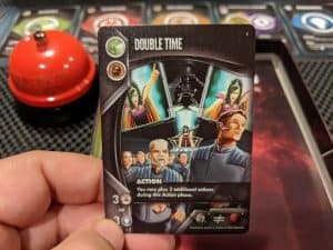 The Double Time card from Eminent Domain Escalation.