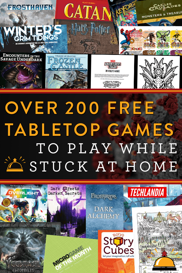 Over 200 Tabletop Games To Play For Free At Home To Keep You Busy During Covid Quarantine Stayathome Tabletop Bellhop