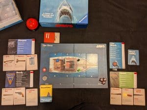 Act two of Jaws all set up and ready to play.