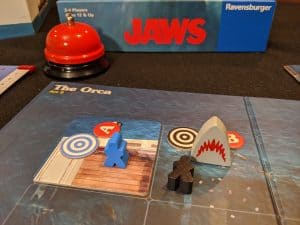 It's not looking good for the crew in this game of Jaws the boardgame.