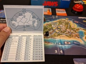 Jaws is a one vs many board game. One player plays the shark vs. the other players.
