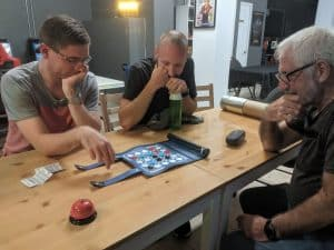 Roger learning to play Zenteko