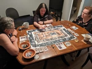 Playing Talisman Batman Super-Villains Edition with my family.