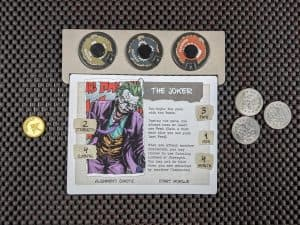 The Joker in Talisman Batman Super-Villains Edition. All set up and ready to play.