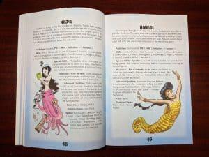 Sample characters from Mermaid Adventures Revised
