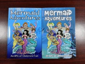 Both editions of Mermaid Adventures, side by side.