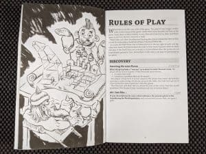 The Rules of Play for Runaway Hirelings a no-prep dungeon crawling role playing game.