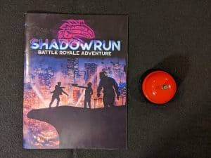 The Battle Royale Adventure book cover from the Shadowrun Sixth World Boxed set.