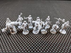 The awesome miniatures you get with Talisman Batman Super-Villains Edition