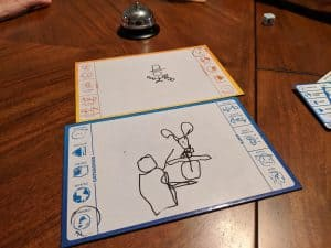Can you guess what the clue was for these two Telestrations Upside Drawn drawings?