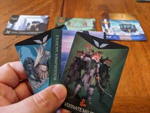 Close up of anthropomorphic artwork featured in Animal Empire card game.