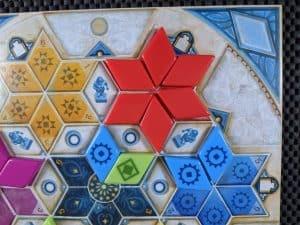 Surrounding features earns bonus tiles in Azul Summer Pavilion