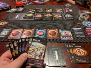 Playing a game of Eminent Domain with the Exotica expansion.
