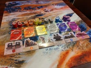 A look at the six factions you get with a copy of the board game Flick Wars.