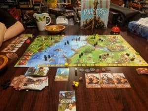 Raiders of the North Sea from Renegade Games being played.