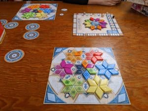 The end of a game of Azul Summer Pavilion