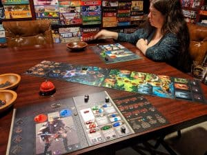 A two player game of Sanctum, always good to find a game that works at all player counts.