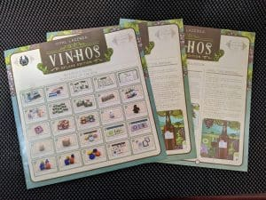 The Vinhos Deluxe Rulebooks and reference guide.