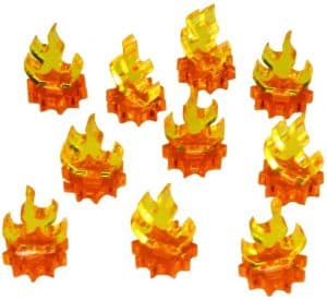 Flame Tokens board board games and RPGS