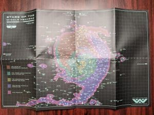One side of the huge map from ALIEN The Roleplaying Game Starter Set