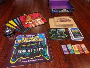 What you get with Scooby-Doo Escape From The Haunted Mansion