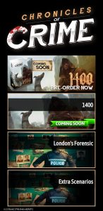 A screenshot of the Chronicles of Crime app.