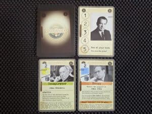 The Nixon Administration Cards from the board game Watergate.